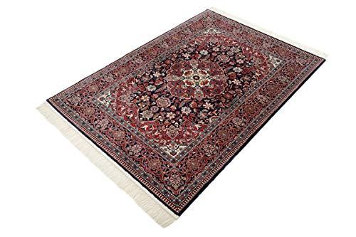 Nain Trading China Kaschan Seide 165x112 Orientteppich Teppich Dunkelgrau/Beige Handgeknüpft China
