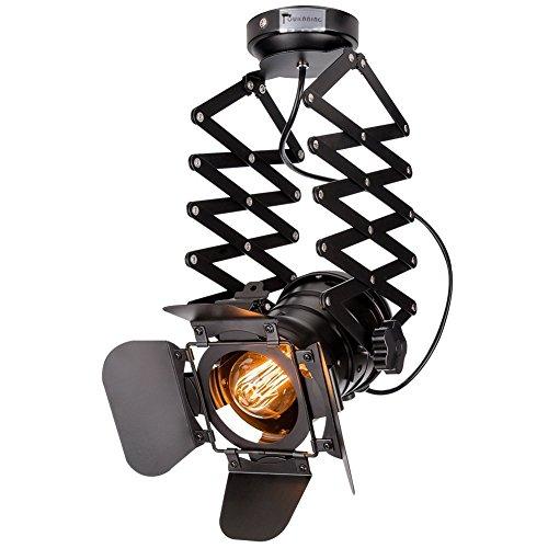 Hansemay Vintage Decke Spotlight Fixture E27 Spot Light Industrial Spot Wandleuchte Verstellbare Metallspur Pendelleuchte für Coffee Bar Esszimmer (Birne nicht im Lieferumfang enthalten)