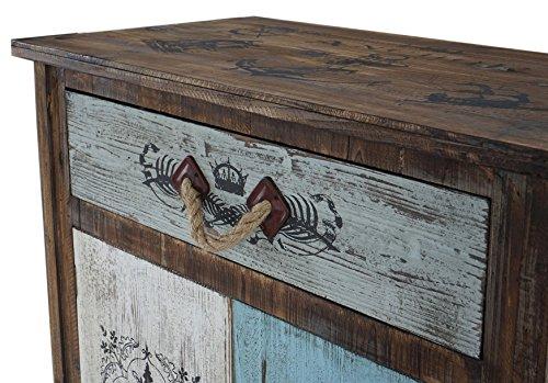 Mendler Kommode Funchal Schubladenkommode Schrank Shabby-Look, Vintage, 84x80x40cm